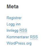 Meta-meny