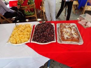 Kaker og frukt
