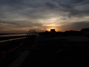 Solnedgang over Mekong