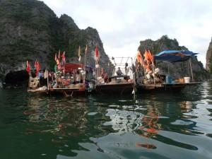Fiskere i sine flytende hus
