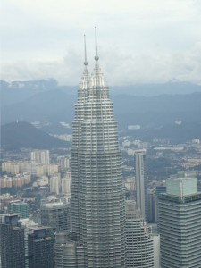 Petronas Towers sett fra Menara KL