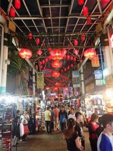 Petaling Street på kveldstid