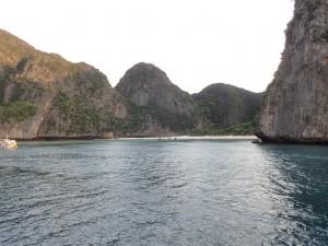 Maya Bay fra sjøsiden