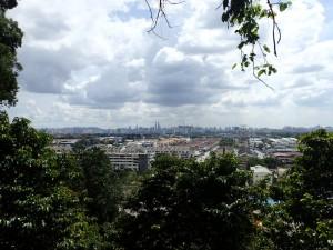 Utsikt mot Kuala Lumpur fra inngangen til Dark Cave