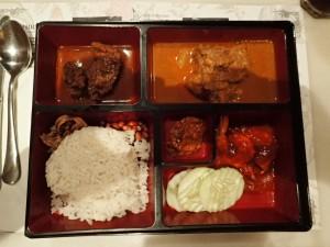 Fra en finere restaurant, et utvalg av malayiske spesialiteter