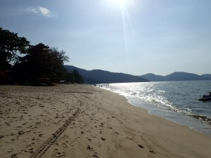 Stranden Batu Ferringhi, nord på Penang