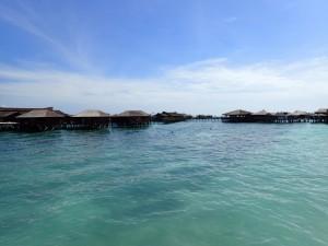 Hotellresorter står på påler i havet