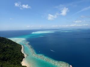 Utsikt fra Pulau Bodgaya