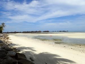 Øya mangedobler sitt area ved lavvann