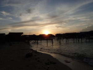 Solnedgang over Mabul