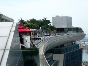 På toppen av Marina Bay Sands