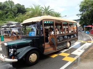 Bussen som bringer deg til stranda