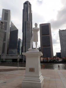 Raffles Landing Site, statue av Thomas Raffles