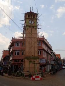 Purcell Tower, klokketårnet klargjøres for vedlikehold