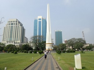Independence Monument, downtown Yangon