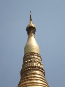 Toppen av Shwedagon Pagoda