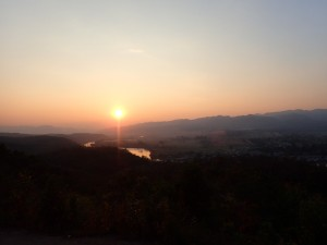 Solnedgang over Hsipaw