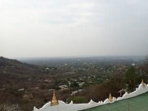 Utsikt over landsbygda utenfor Mandalay