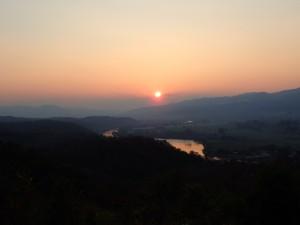Solnedgang fra Sunset Hill