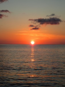 Solnedgang fra Lonely Beach, Ko Chang, Thailand